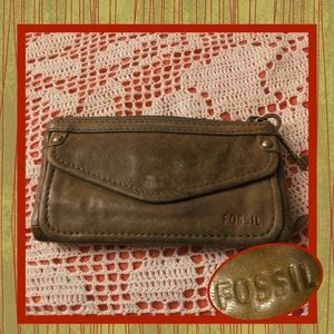 Fossil Leather Wallet Mini Purse USED CONDITION